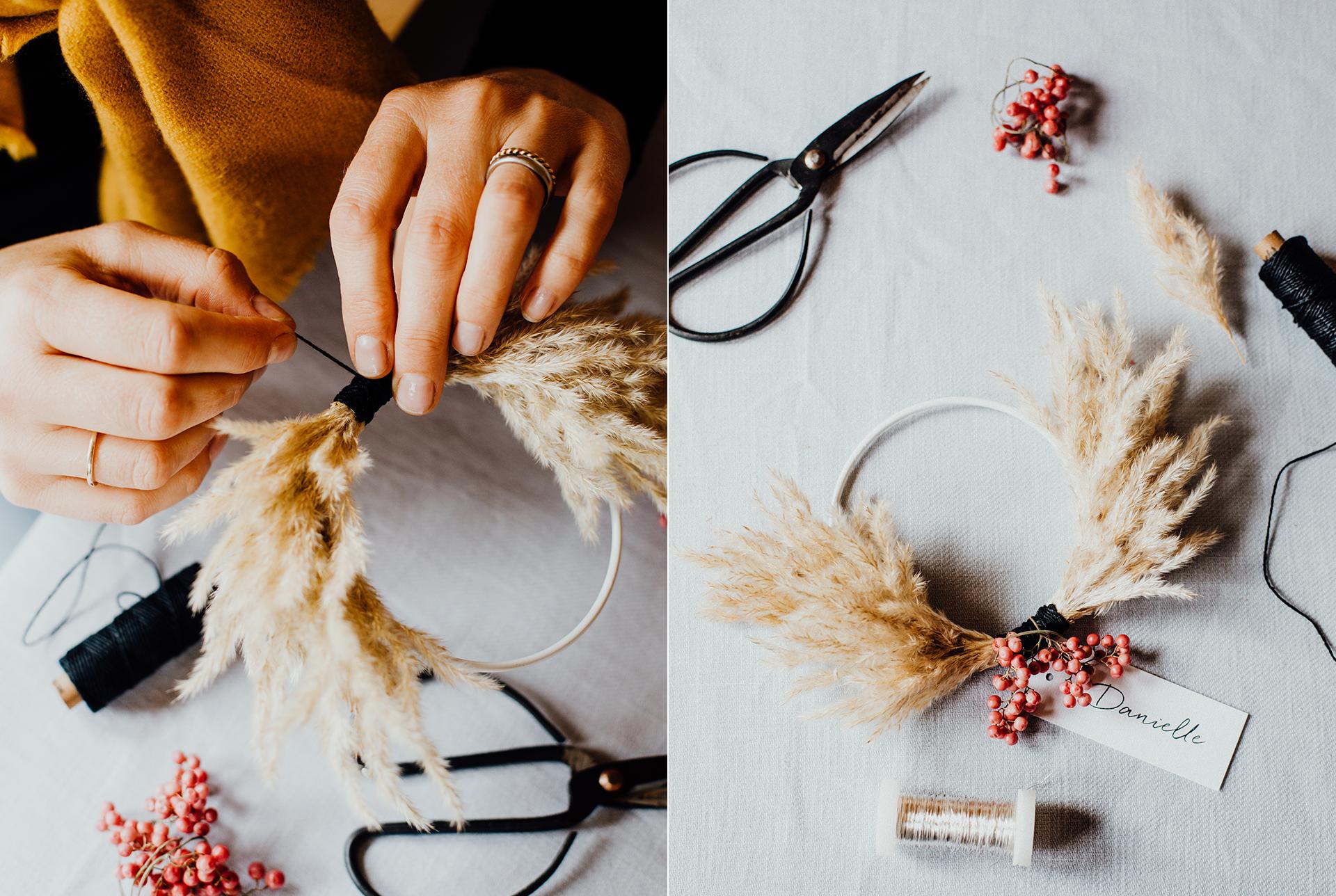 Schritt fuer Schritt Anleitung für weihnachtliche Dekoration von Stylistin Mariska Ruemmelein MooiDekoration und Nicola Honer von Farbgold. Foodfotografie Katrin Winner Muenchen
