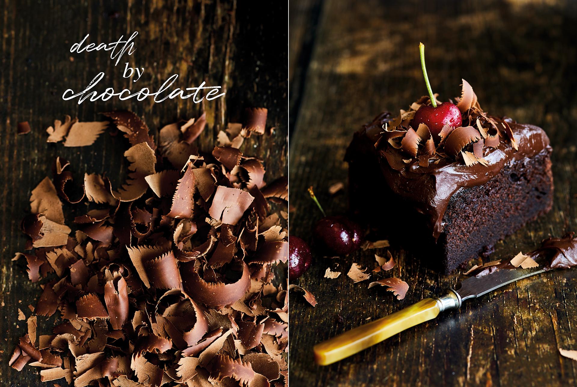 Schokoladenkuchen Foodfotografie Foodstyling Muenchen Katrin Winner