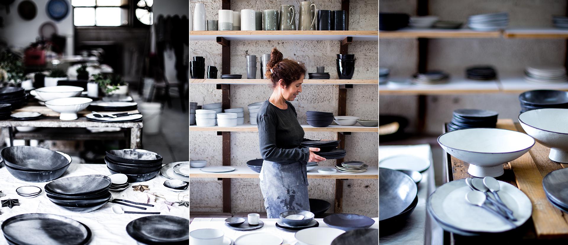 Portrait von Lior Shachar von  1220 Ceramics Studio in Ihrem Atelier in TelAviv