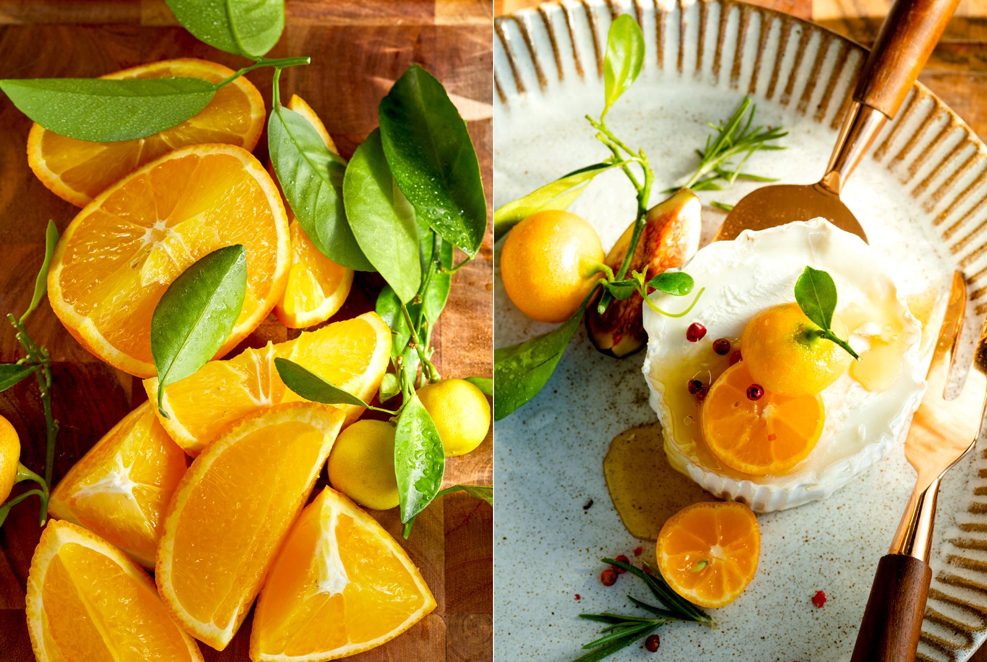 Ziegenkaese mit Orangen fotografiert von Katrin Winner